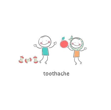 Toothache. Illustration. Stock Illustration - 18716651