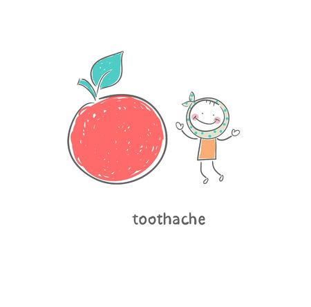 Toothache. Illustration. Stock Illustration - 18716782