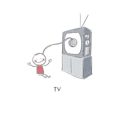 Man and TV photo