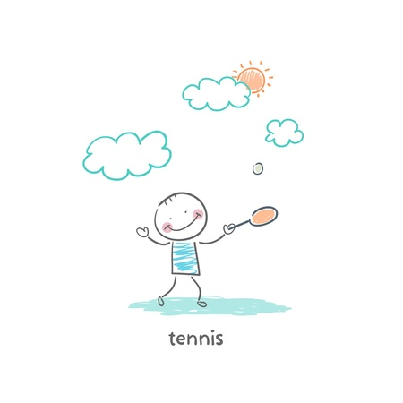 black man white woman: tennis player