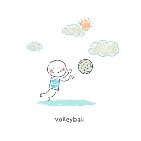 Volleyball player photo