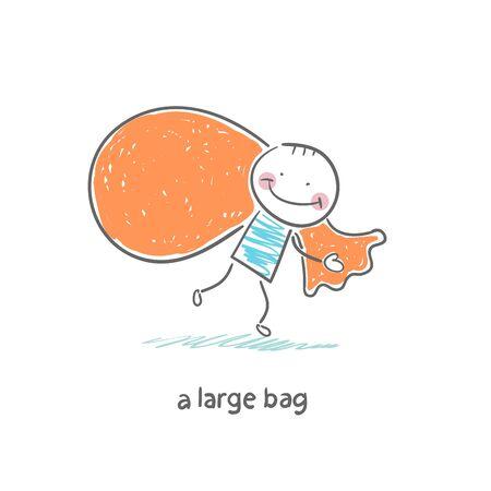 bagful: big bag Illustration