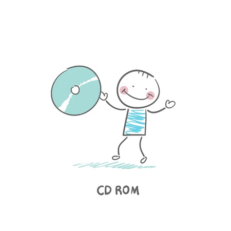 cdrom: CD-ROM Illustration
