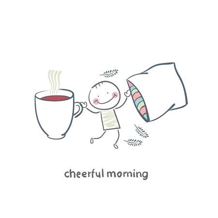 Cheerful morning Vector