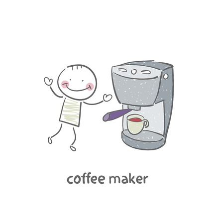 Coffee machine Illustration