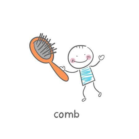 toiletry: Comb Illustration