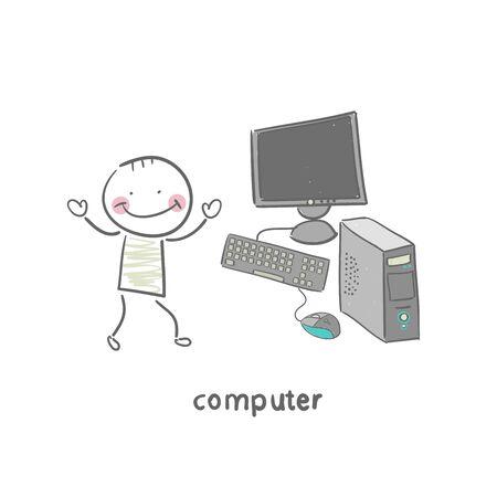 Computer Stock Vector - 18953223