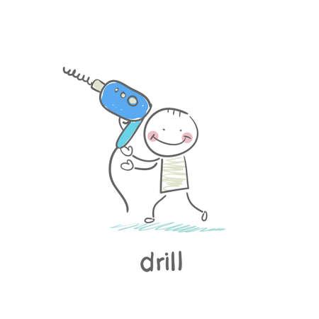 Drill Ilustrace