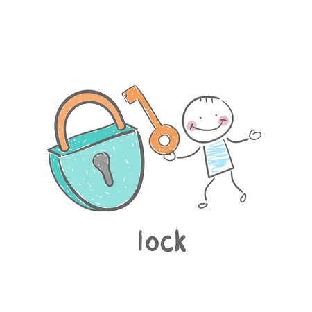 Lock and Key Foto de archivo - 18953420