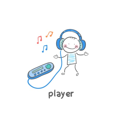 mp3 player: MP3 player Illustration