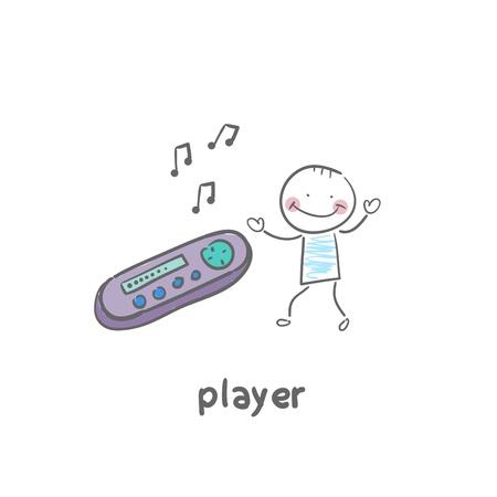 audiovisual: MP3 player Illustration