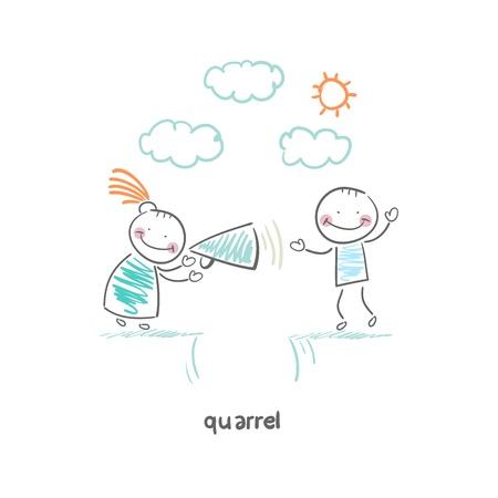 Quarrel Stock Illustratie