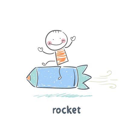 rocket Stock Vector - 18953351