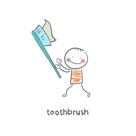 toothbrush Illusztráció