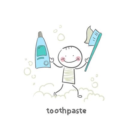 toothpaste tube: toothpaste