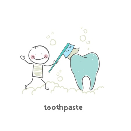 toothpaste Stock fotó - 18953353