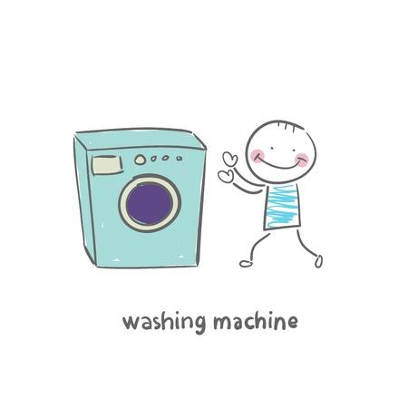 washer machine: washing machine Illustration