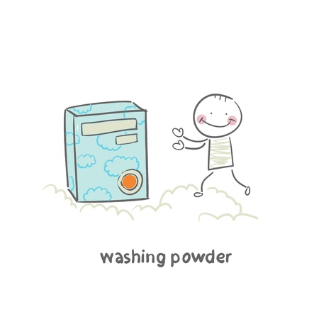 washing powder Vector