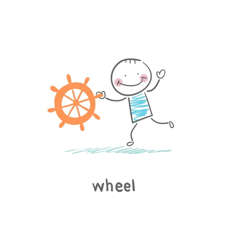 Ship wheel Vector