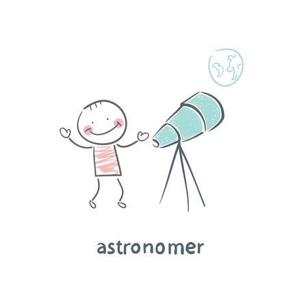 astronomer Vector