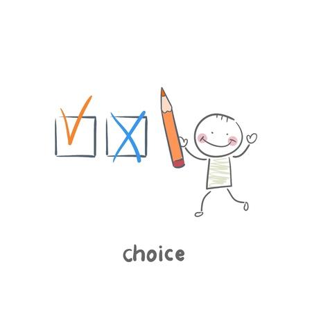 confirmed: choice Illustration