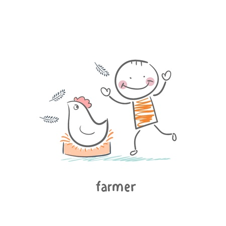 farmer Stock Vector - 19150834