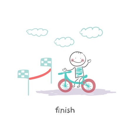 finish line: finish Illustration