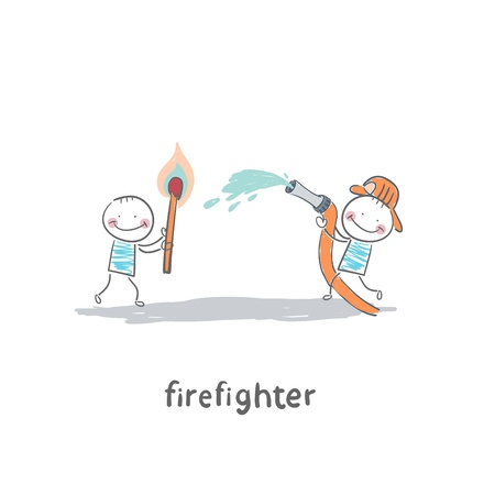 firefighter Vector