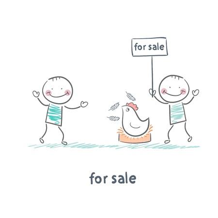 working animals: selling chicken