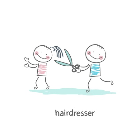cartoon hairdresser: barber