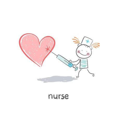 doctors and patient: Enfermera