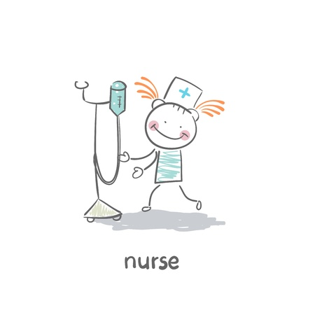 fashion illustration: Nurse