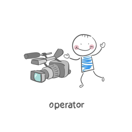 videographer: videographer Illustration