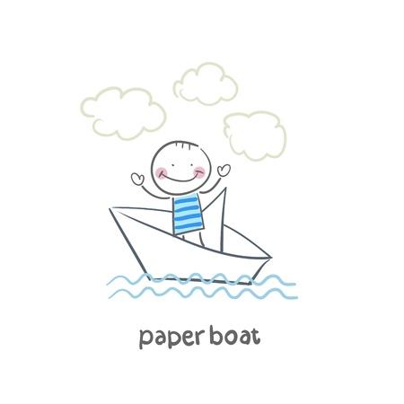 folded paper: Paper Boat