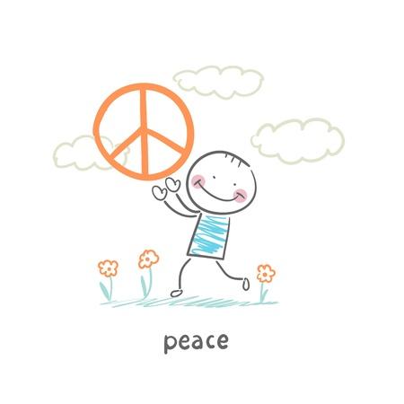 peace on earth: peace Illustration