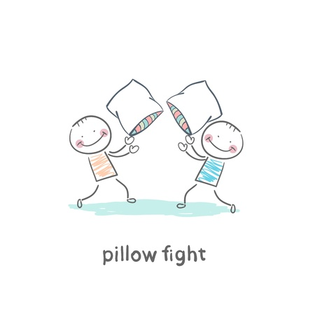 pillow fights Vector
