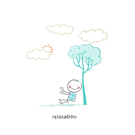 relaxation 向量圖像