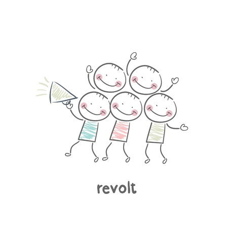 businesses: revolt Illustration
