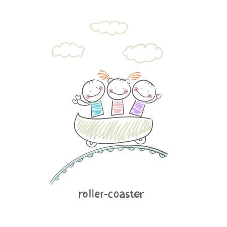 carnival ride: roller-coaster Illustration