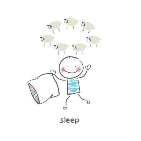 counting: sleep Illustration