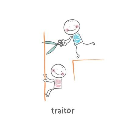 stabbed: traidor Vectores