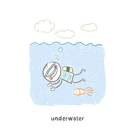 inhaling: diver