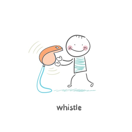 time out: whistle Illustration