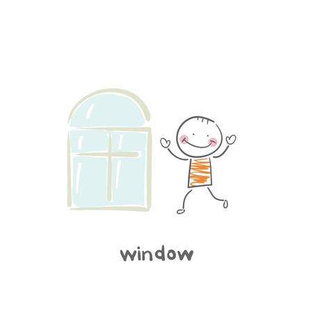 open window: window Illustration