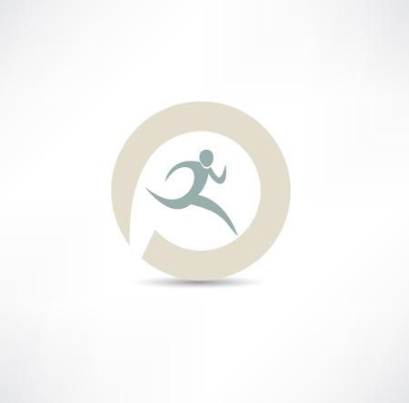 runner icon Stock Vector - 19601395
