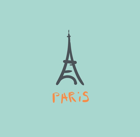 Eiffel Tower icon Illustration