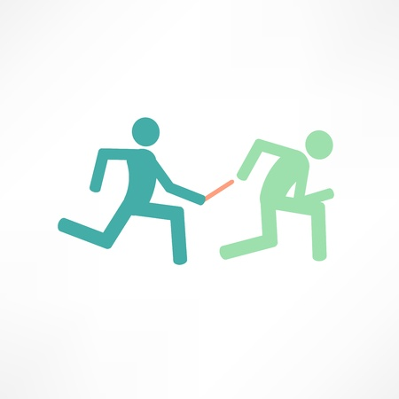 relay runners Illustration