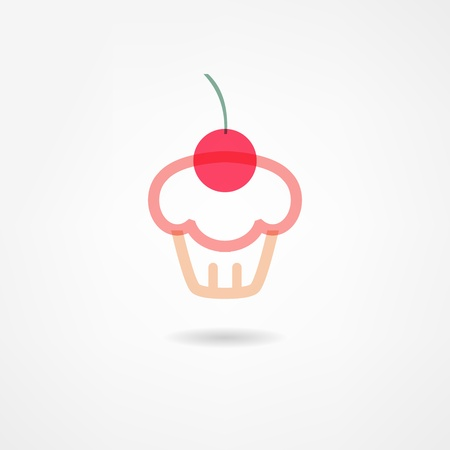 cupcakes isolated: cake icon