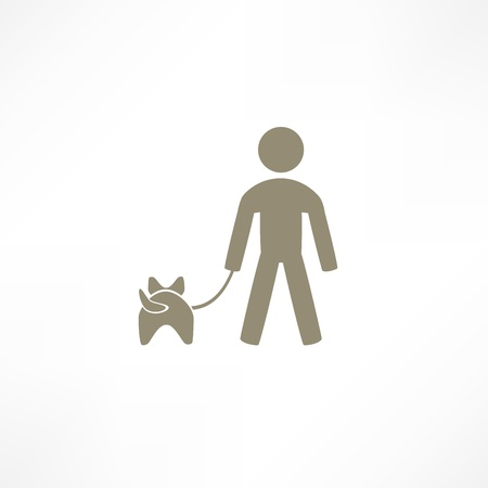 walk the dog icon Vector