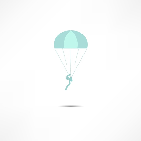 skydiver: skydiver icon Illustration